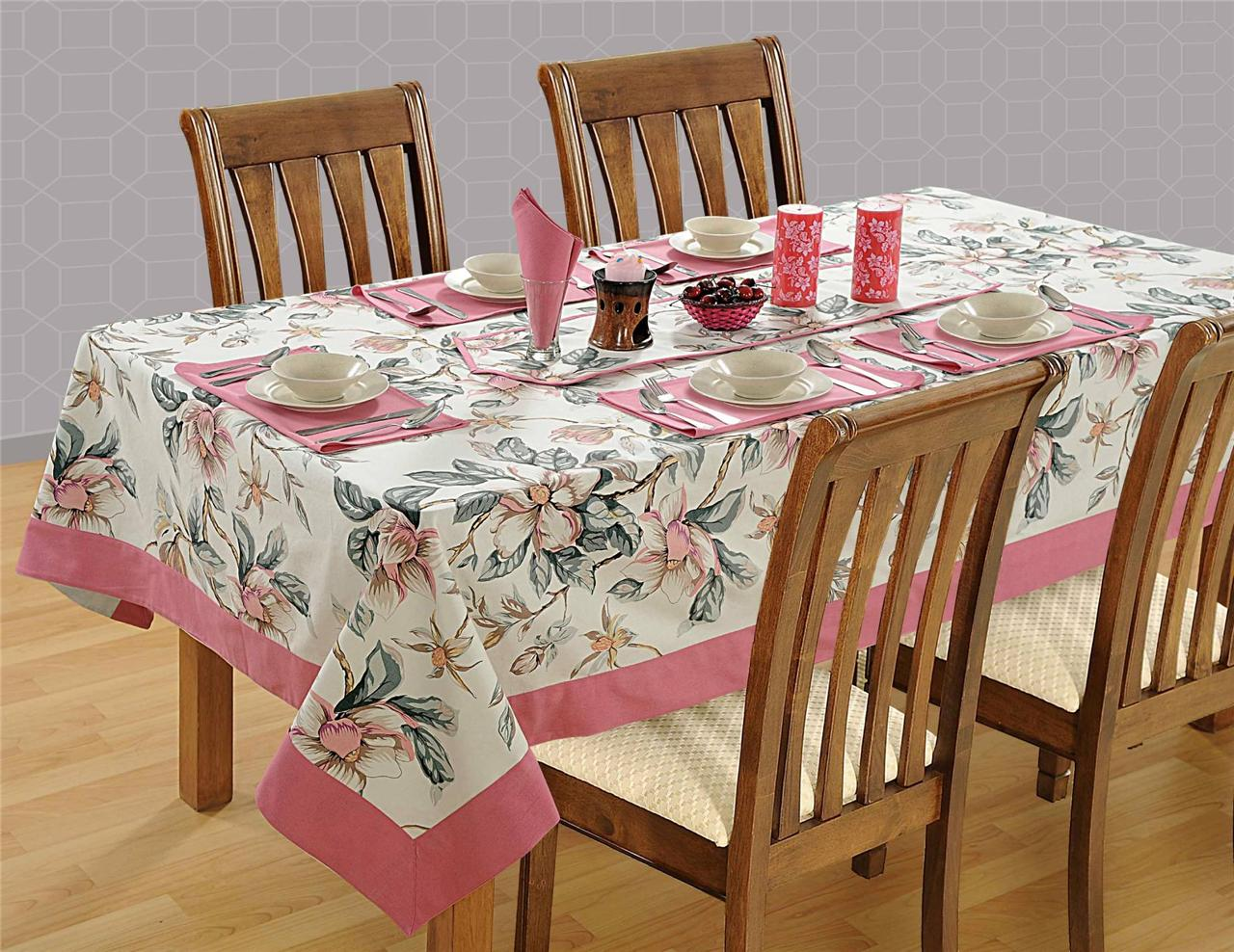 8 Seater Pure Cotton Table Linen Set 1 Table Cloth 8  : 813129029o from www.ebay.com.au size 1280 x 988 jpeg 225kB