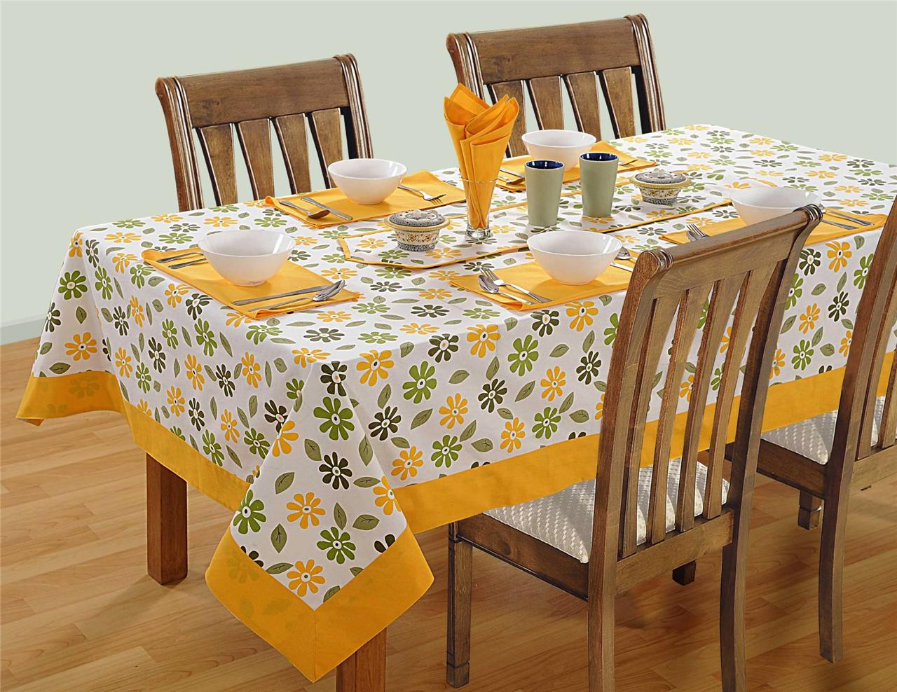 8 Seater Pure Cotton Table Linen Set 1 Table Cloth 8  : 813129031o from www.ebay.com.au size 1280 x 988 jpeg 209kB