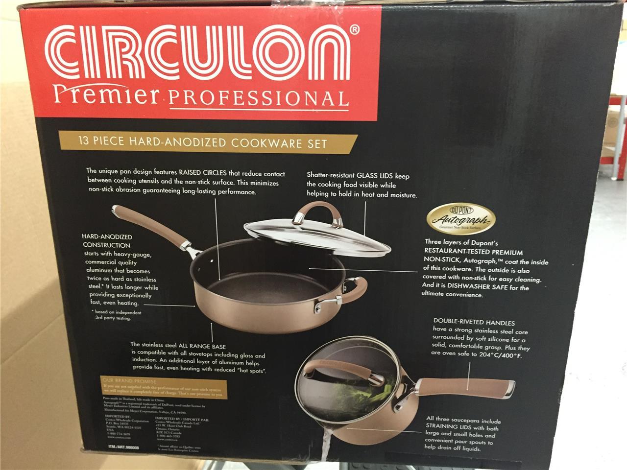 Circulon Premier Professional Hard Anodized 13 Piece Non