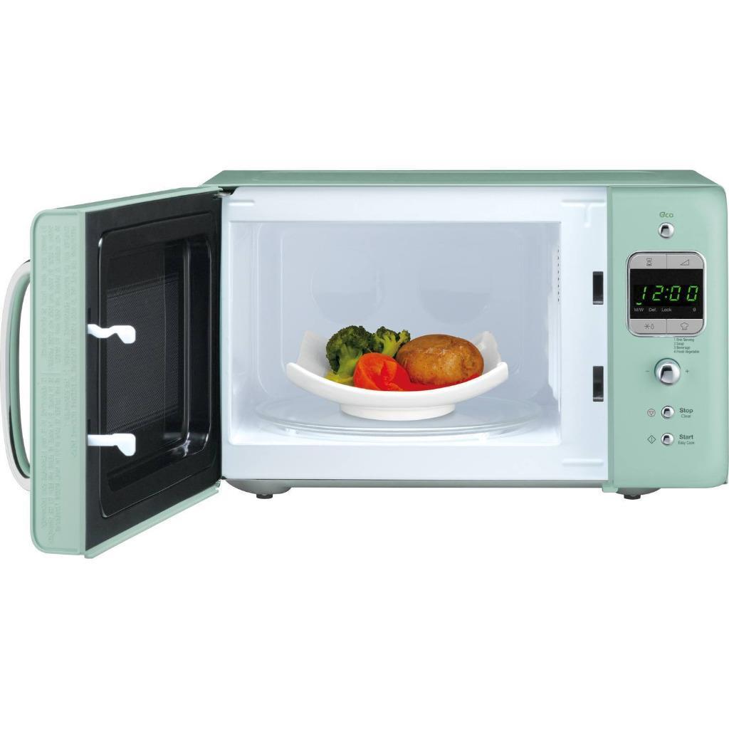 daewoo retro microwave oven 20 litre mint ebay. Black Bedroom Furniture Sets. Home Design Ideas