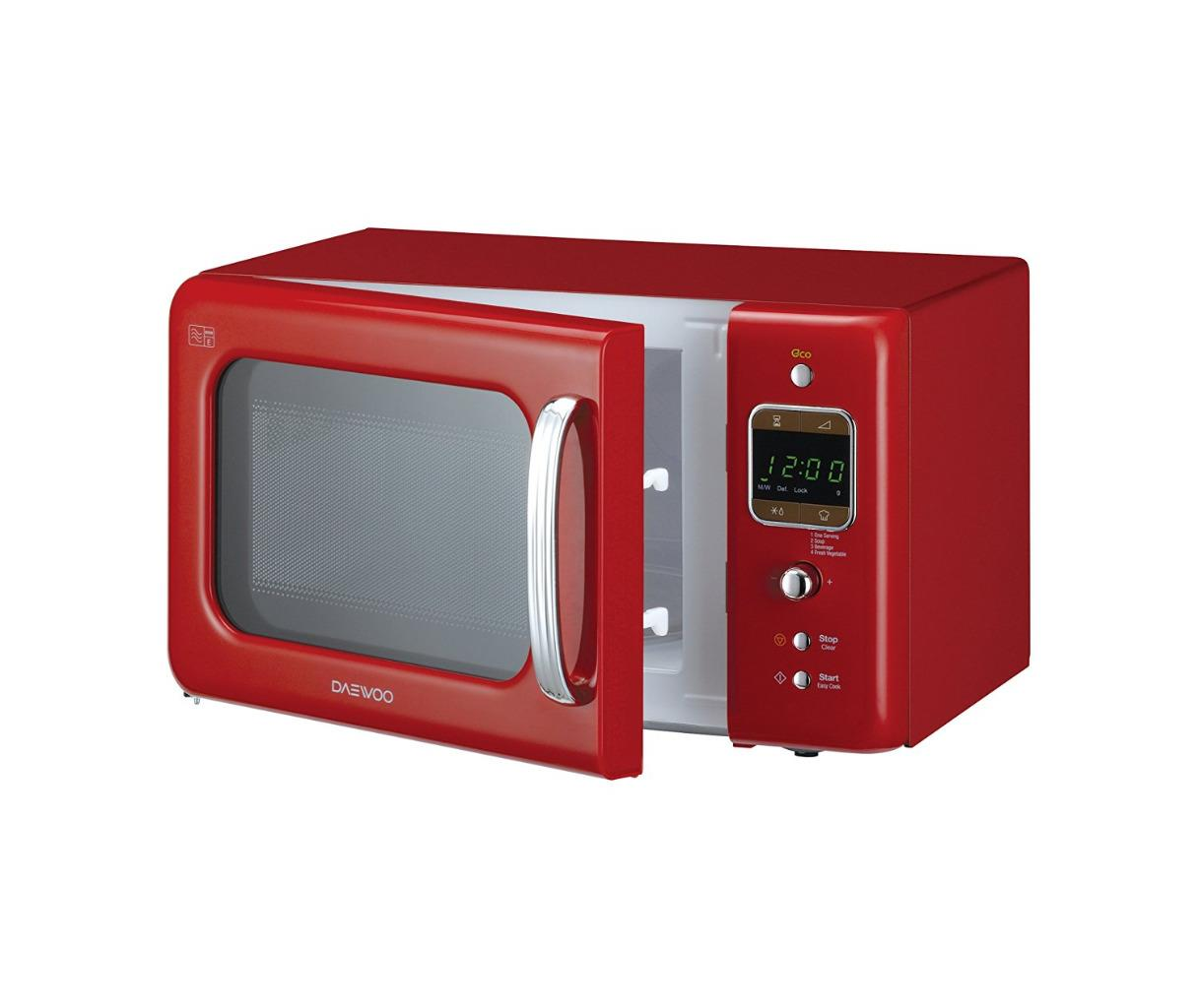 Daewoo Kor7lbkr Retro Style Free Standing Microwave 20l