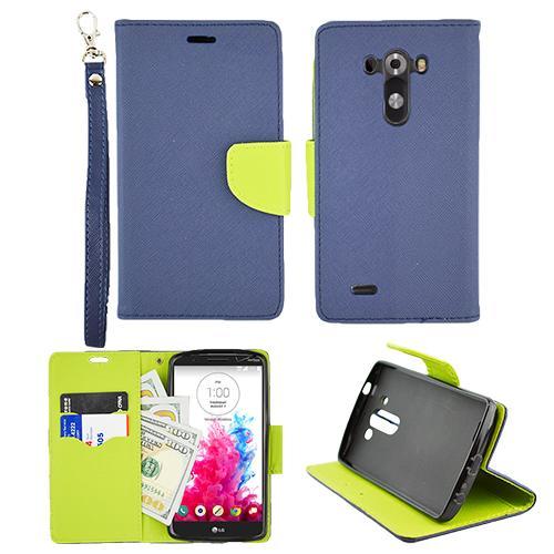 For LG G3 4G LTE D855 Preimum Wallet Pouch Cover Case PU ...