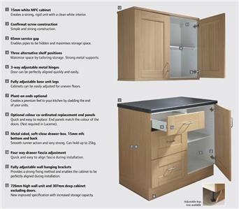 Complete fitted kitchen unit base wall sets diy flatpack for Kitchen unit set