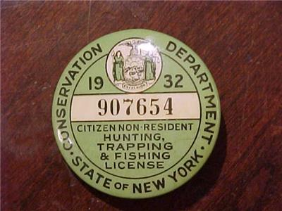1932 non resident new york hunting trapping fishing for New york fishing license online