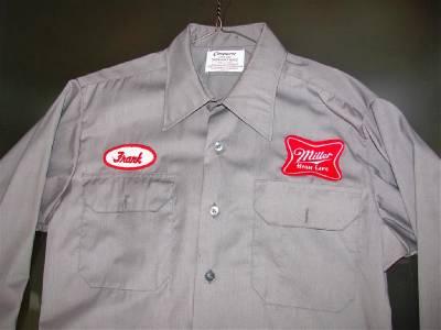 Vintage Beer Delivery Uniform Shirt Miller Genesee