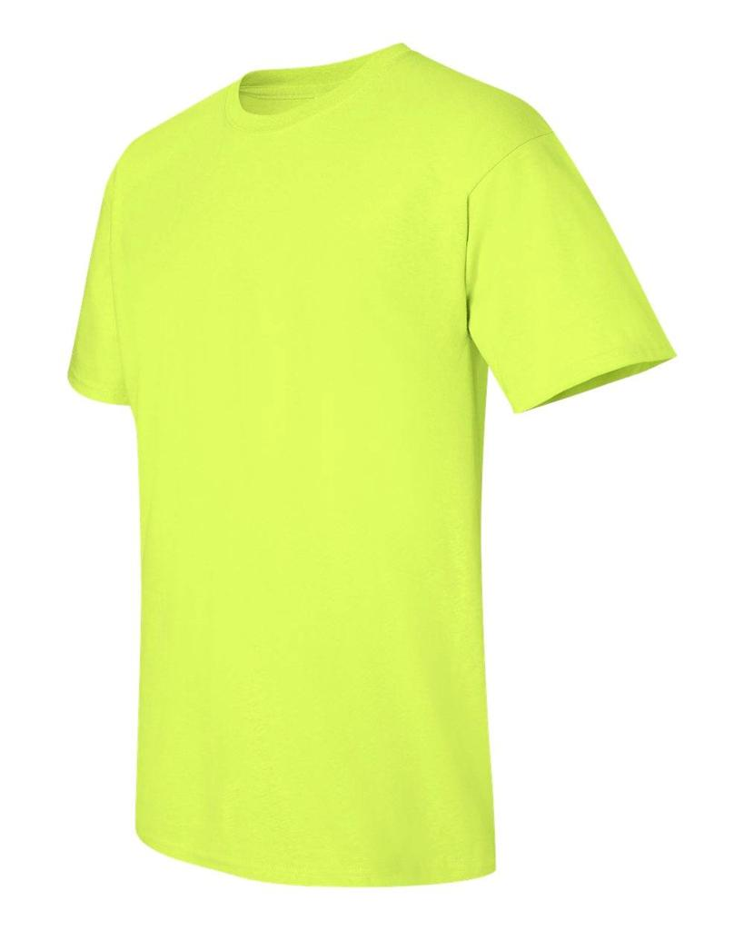 Gildan ultra cotton safety green safety orange ansi high for Hi vis t shirts cotton
