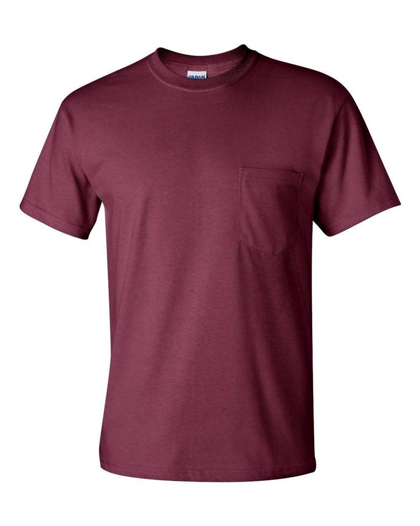 Gildan mens ultra cotton t shirt with pocket tee s m l xl for Mens 3xl t shirts
