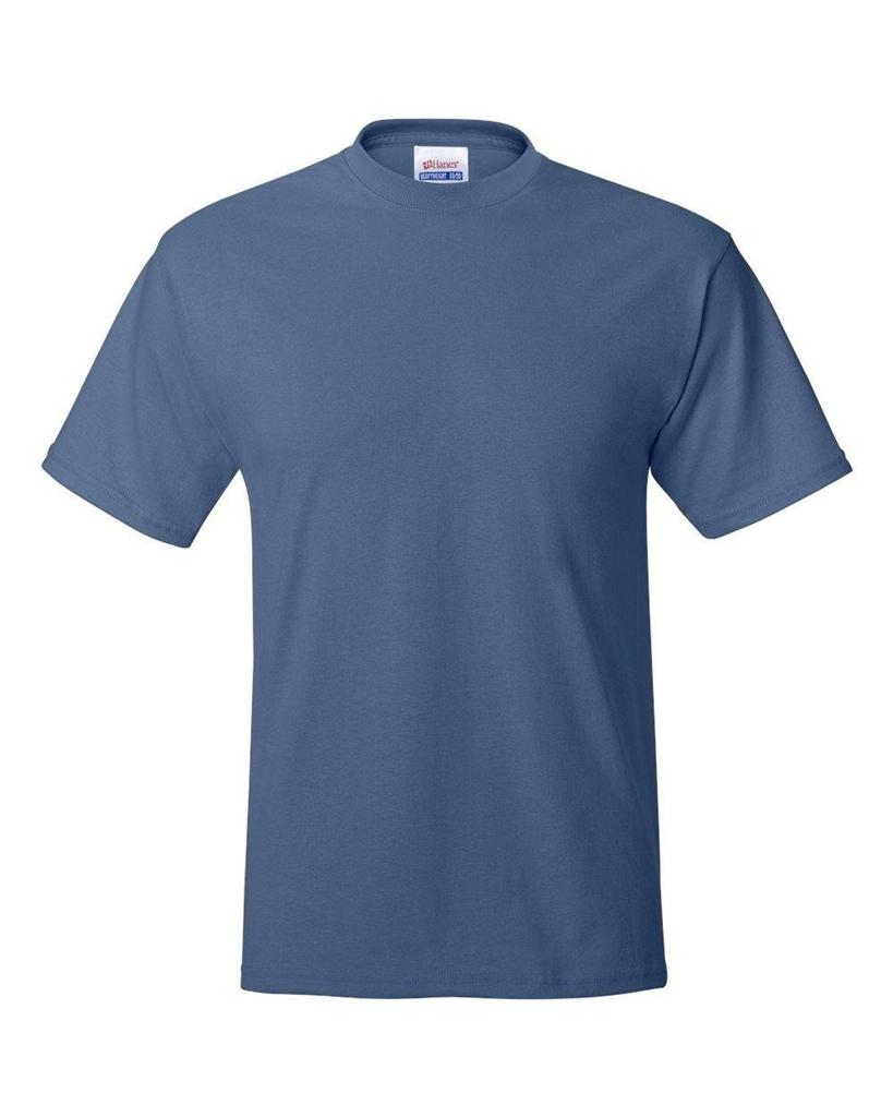 Hanes mens beefy t shirt 100 cotton tag free tee sizes s for Hanes beefy t custom shirts