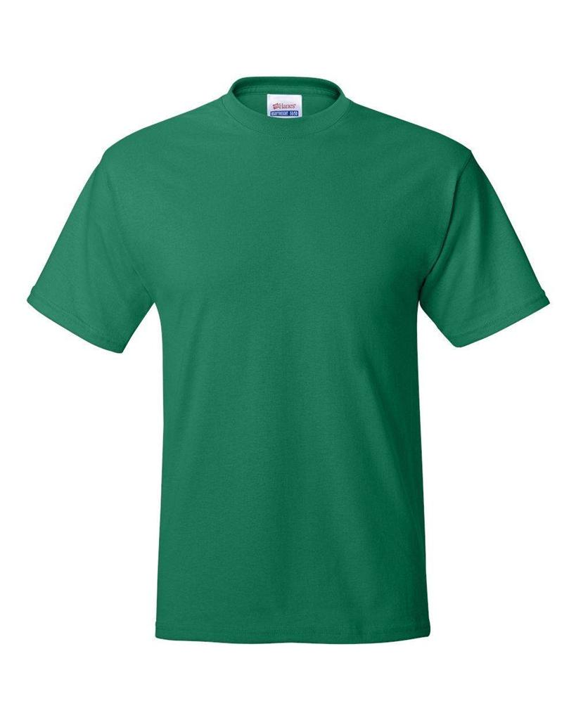 Hanes Mens Beefy T Shirt 100 Cotton Tag Free Tee Sizes S