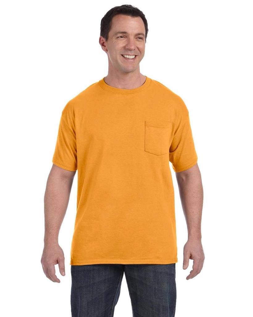 hanes mens t shirt with pocket comfortsoft tee 100 cotton s m l xl 2xl 3xl 5590 ebay. Black Bedroom Furniture Sets. Home Design Ideas