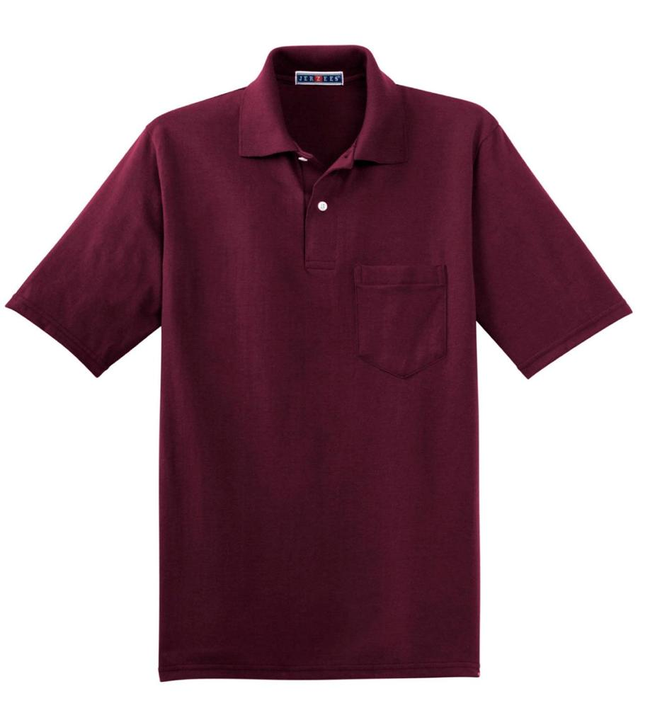 jerzees spotshield jersey knit sport polo shirt with