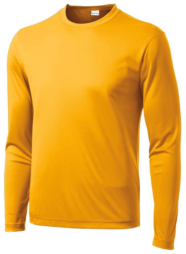 Mens dri fit big tall sport tek long sleeve sizes lt for Big and tall quick dry shirts