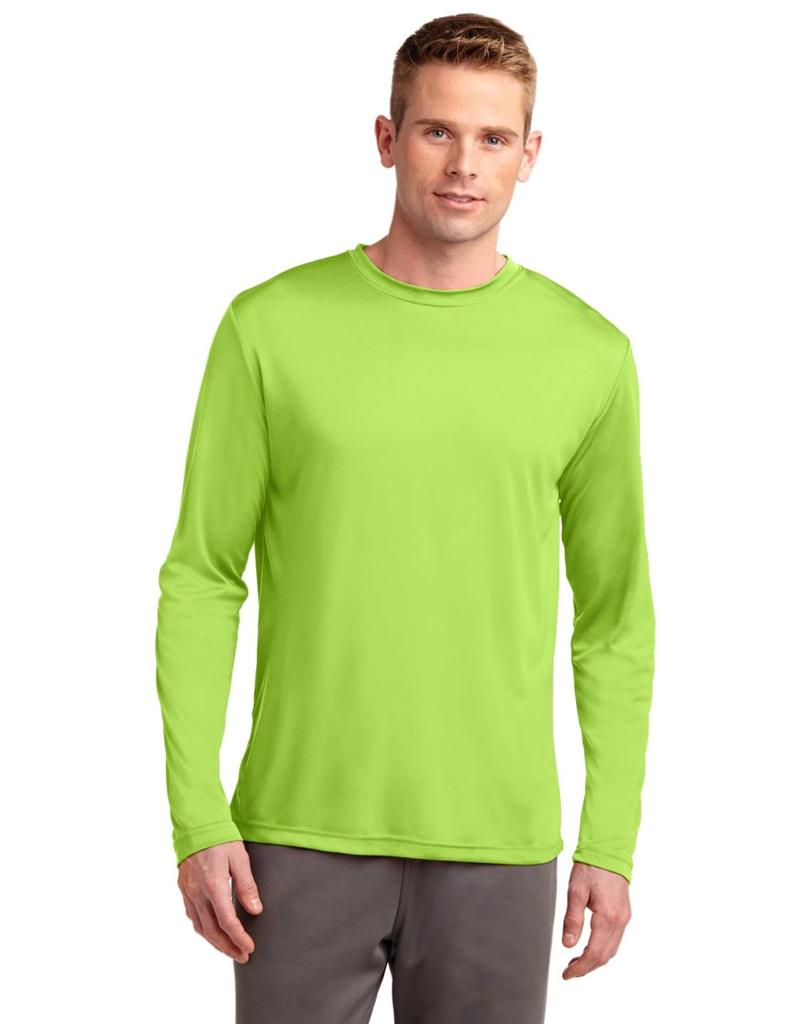 mens dri fit long sleeve sport tek moisture wicking