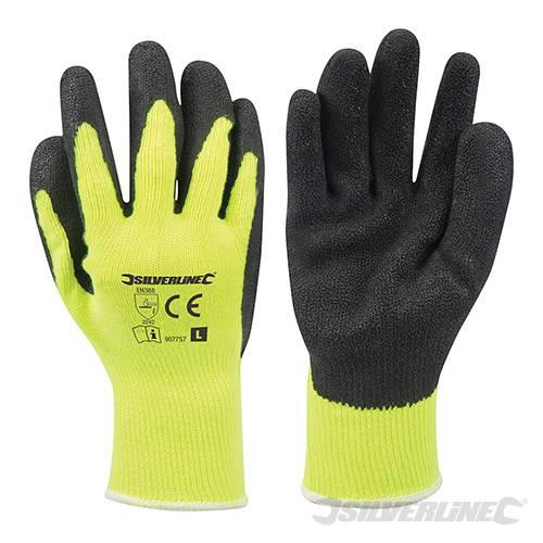 Builder gloves diy rubber pvc yellow cris cross silicone for Diy plastic gloves
