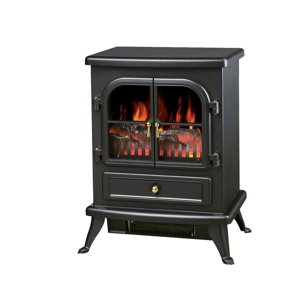Electric Focal Log Design Flame Wall Fire Cast Iron Effect