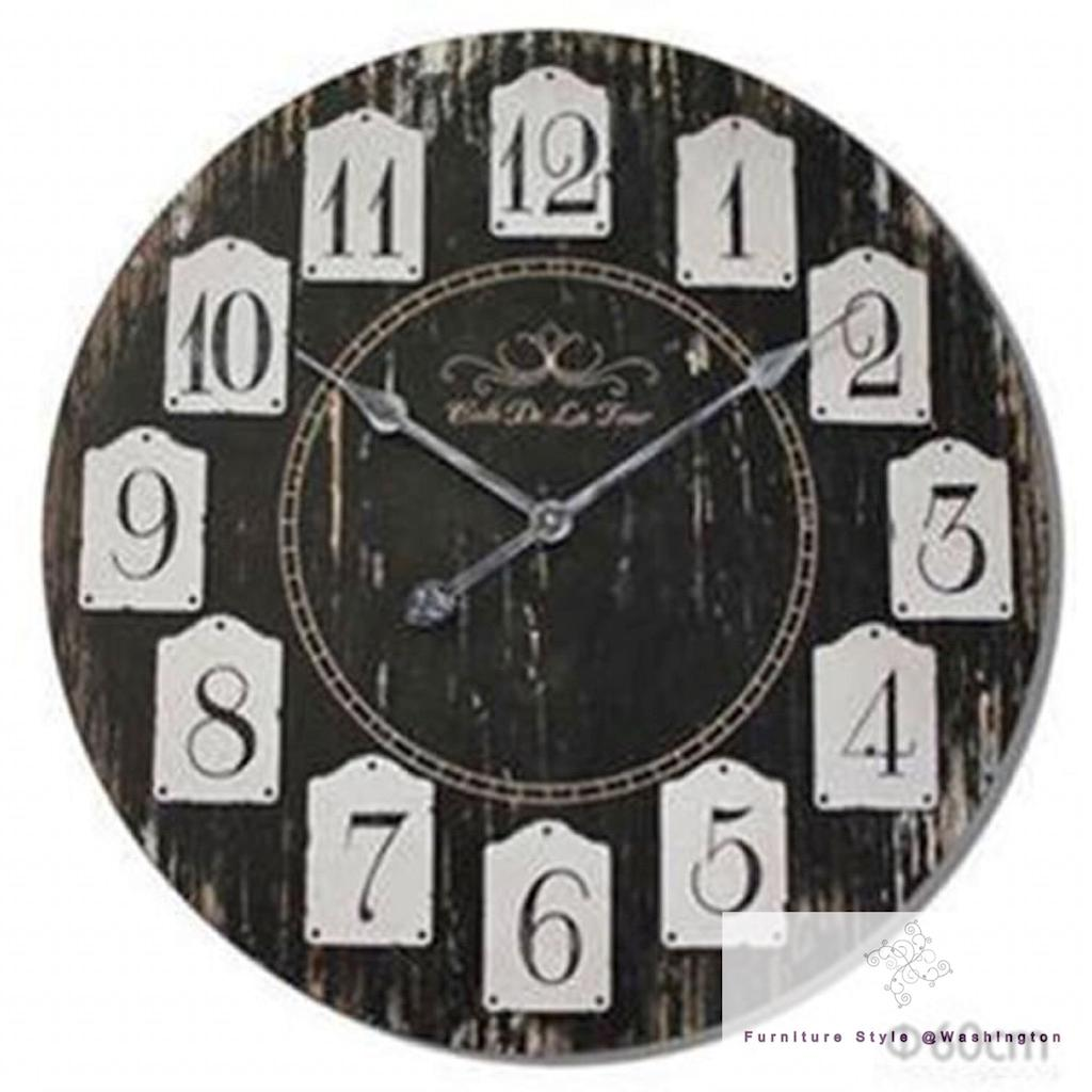 Large Wall Clocks Kitchen Shabby Chic Vintage Station