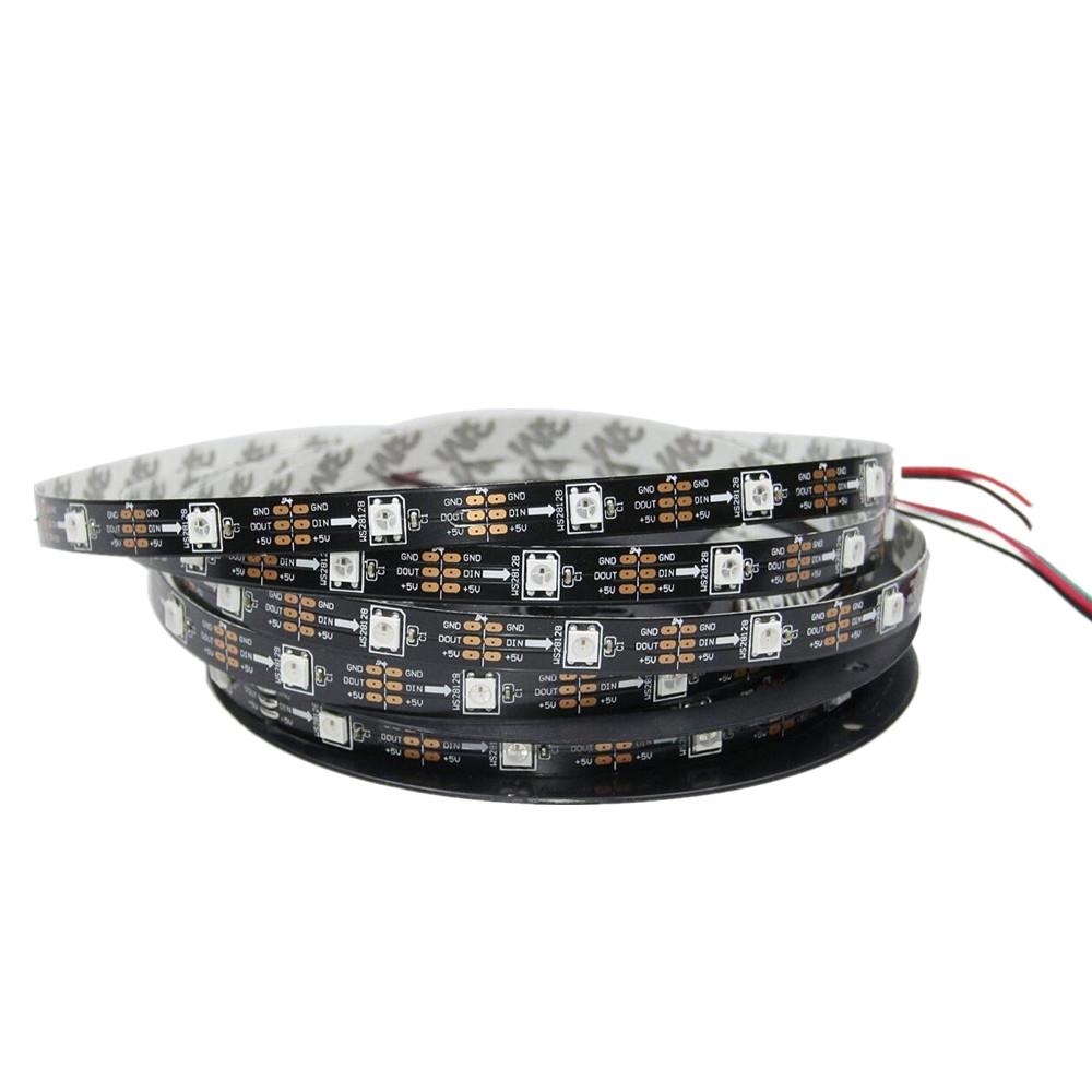 5meter rgb led streifen ws2812b ws2811 ic 5050 adressierbarer dreamcolor 5v ebay. Black Bedroom Furniture Sets. Home Design Ideas