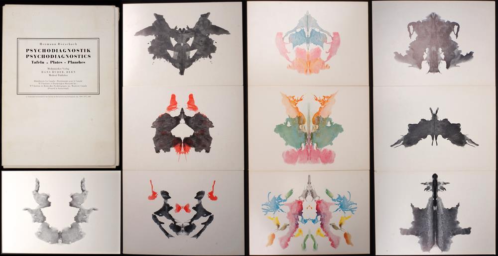 Vintage rorschach test psychodiagnostic plates ink blot cards hans huber swiss ebay - Test di rorschach tavola 1 ...