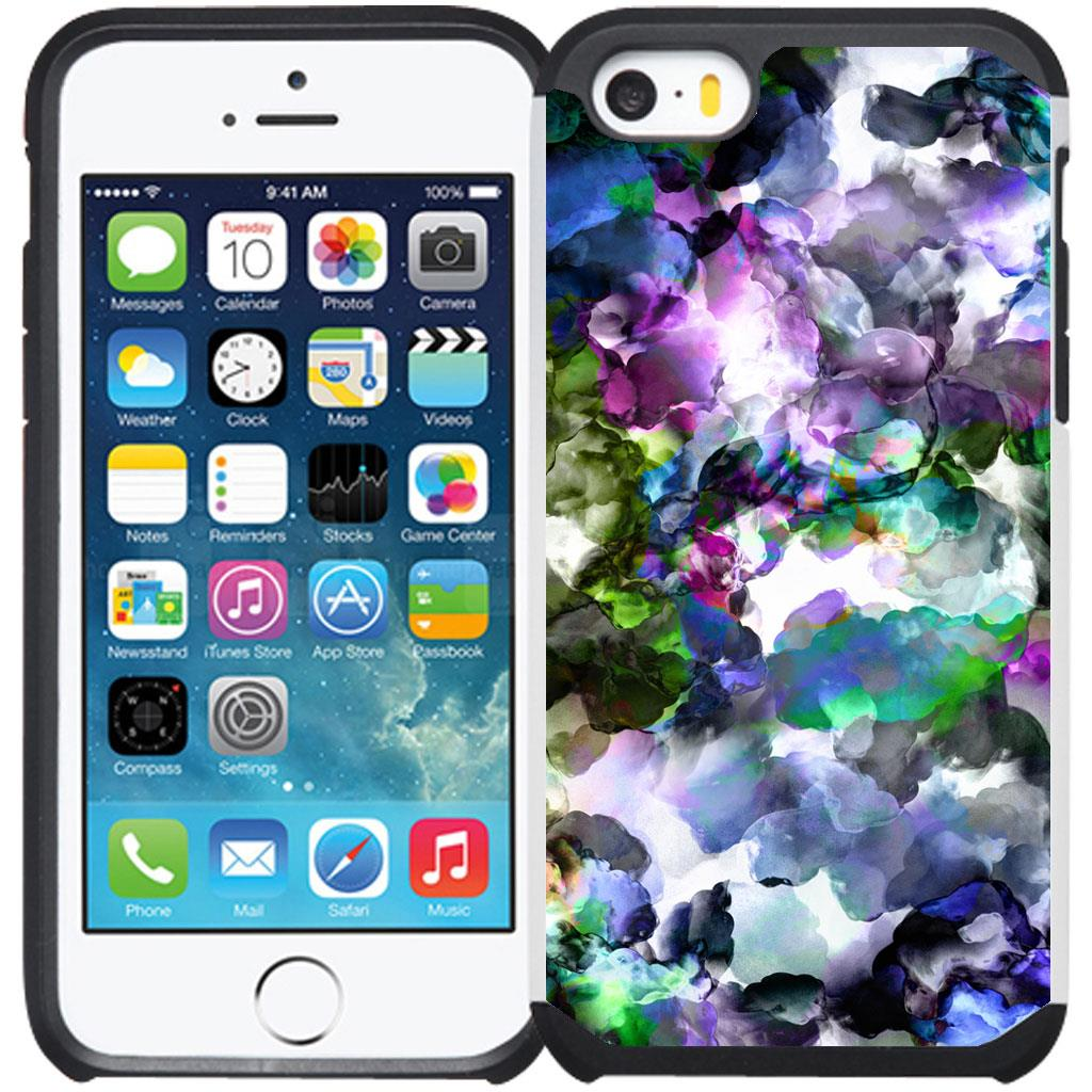 Marble Design Slim Dual Hybrid Case Cover for iPhone 5 / iPhone 5S / iPhone SE
