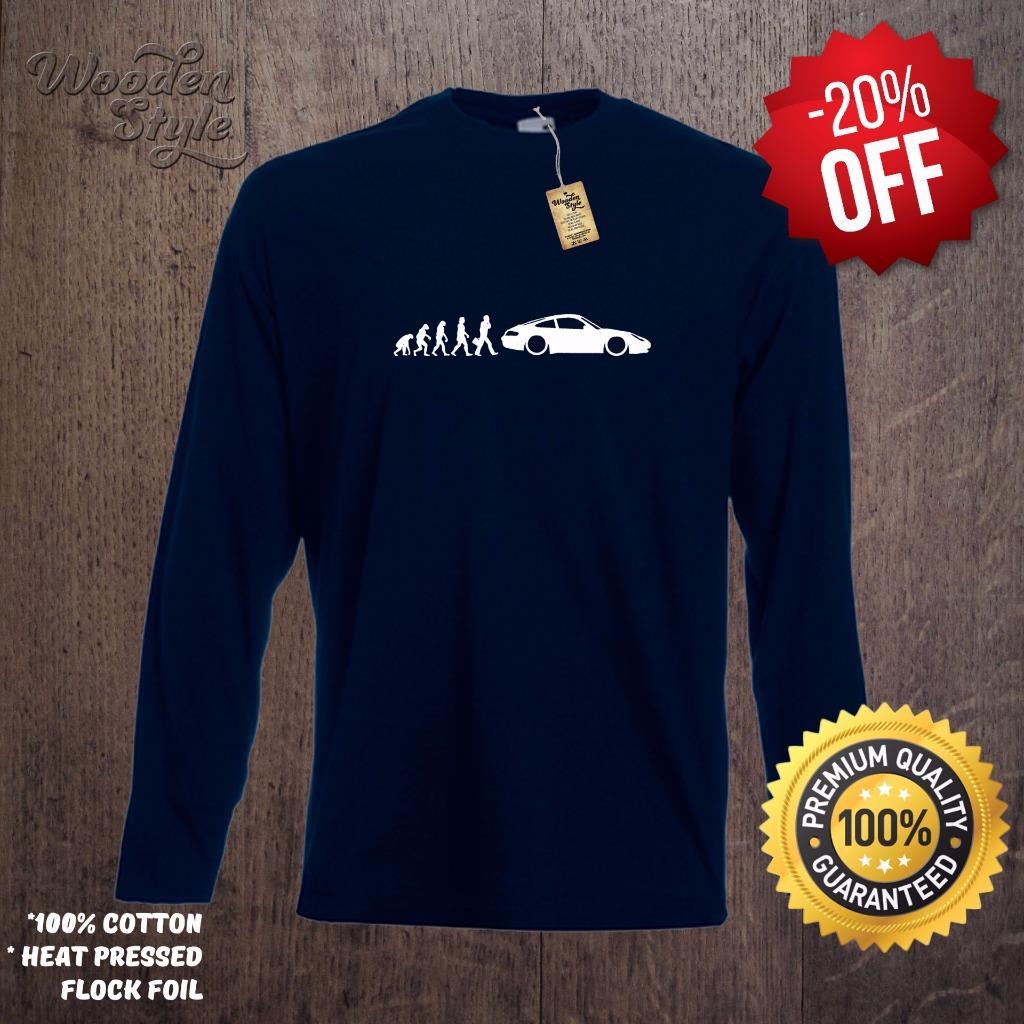 long sleeve t shirt evolution of man porsche 911 t shirt. Black Bedroom Furniture Sets. Home Design Ideas