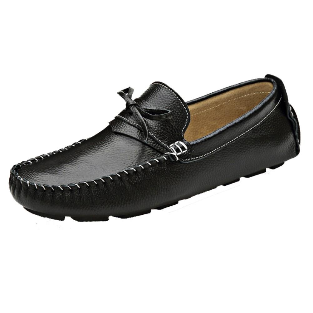mens genuine leather loafers driving moccasins comfort
