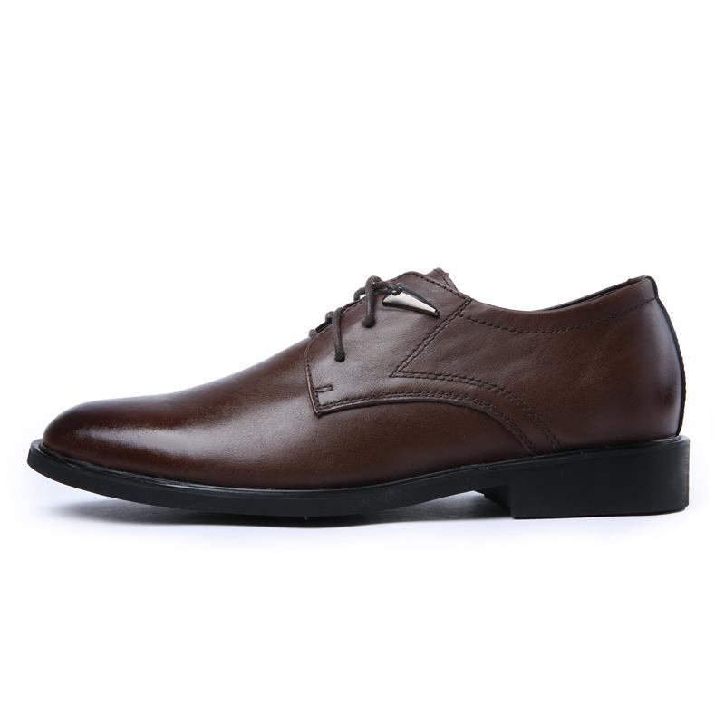 mens grain leather oxford lace up comfort