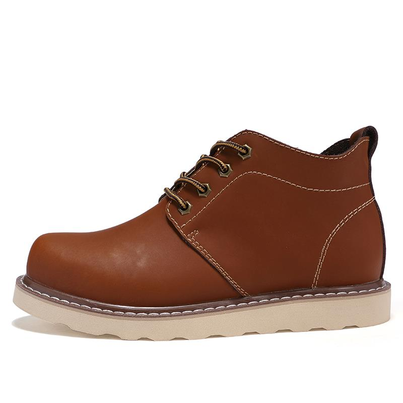 mens autumn cow leather casual lace up ankle chukka boots