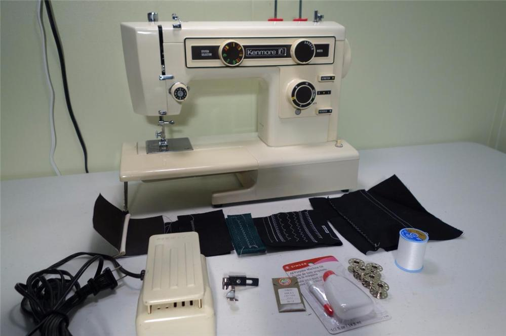 Heavy duty kenmore sewing machine model 385 denim leather for Machine a coudre kenmore modele 385