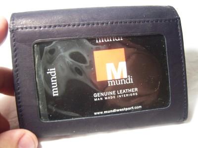 Mundi Black Card & Coin Leather Wallet