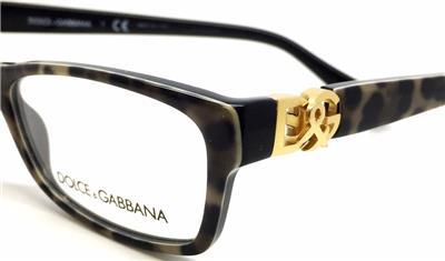 Dolce Gabbana Grey Leopard Medium 51mm Eyeglass Frame ...