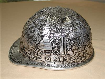 Mcdonald engraved oilfield drilling aluminum hard hat ebay jpg 400x300 Oil  field hard hat 07a56a68d30d