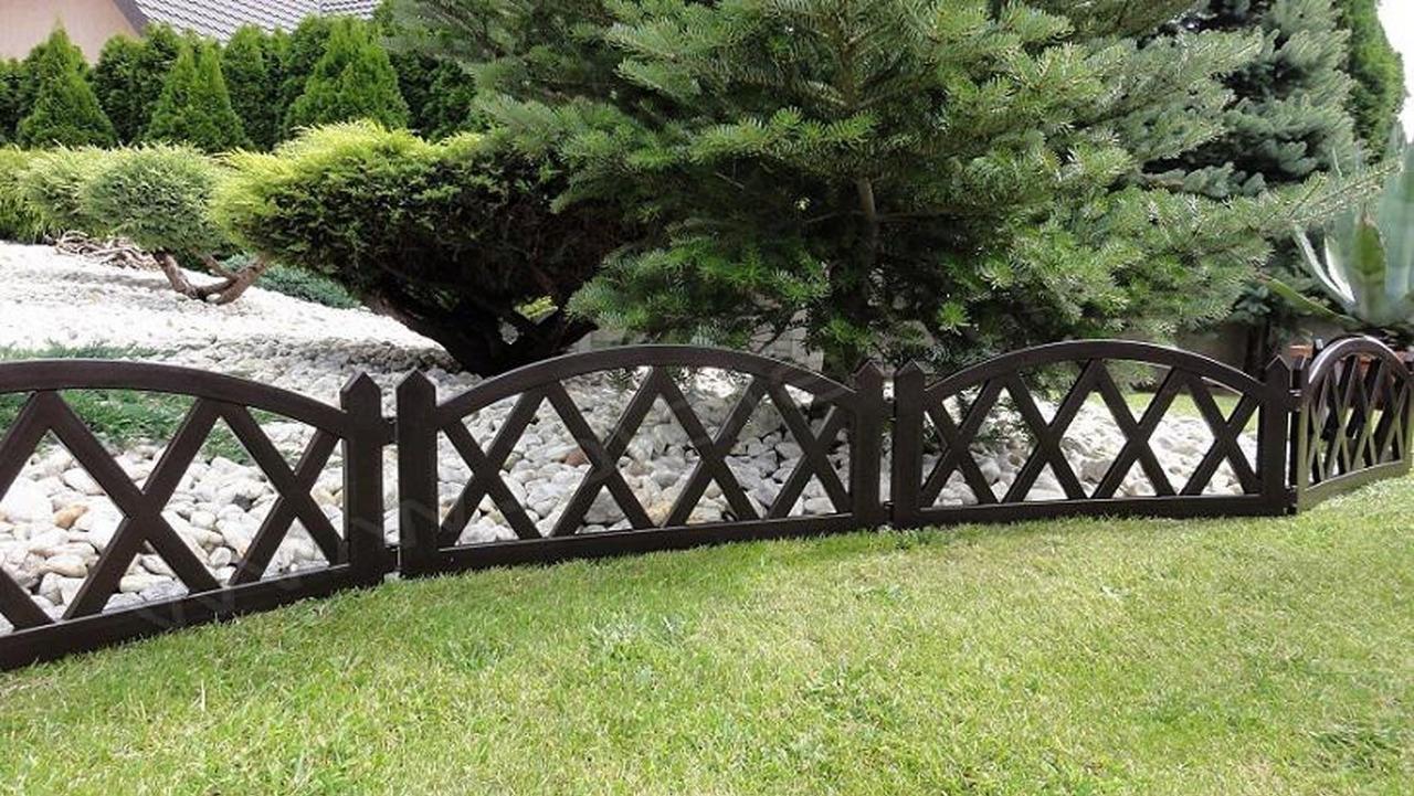 Plastic Garden Fence Panels Boarder Lawn Palisade Edge Patio Fencing BROWN BJ