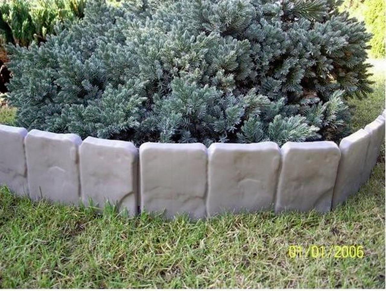 Plastic Garden Fence Panels Boarder Lawn Palisade Edge Patio Fencing GREY BJS