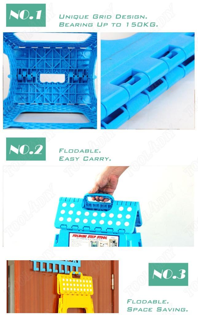 39cm Folding Step Stool Kitchen Garage Foldable Carry