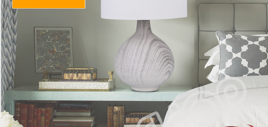 modern granite table lamp bedside table bedroom stoneware