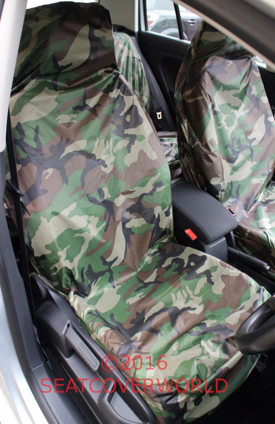 Land Rover Camouflage W Proof Front Seat Covers Defender