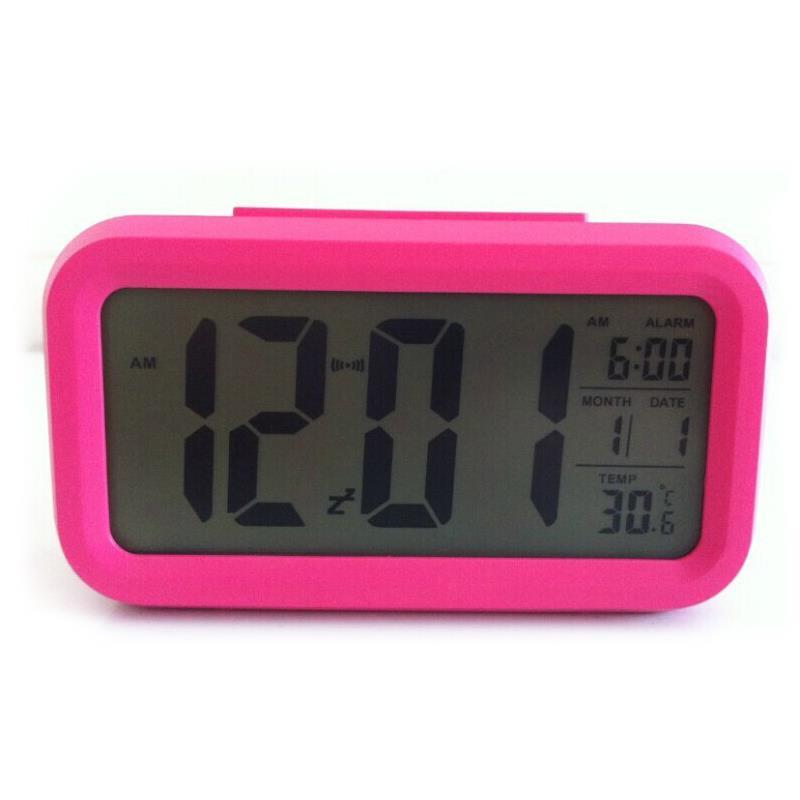 Modern Bedroom ABS Battery Powered Digital Electronic LED Alarm Clock Backlig