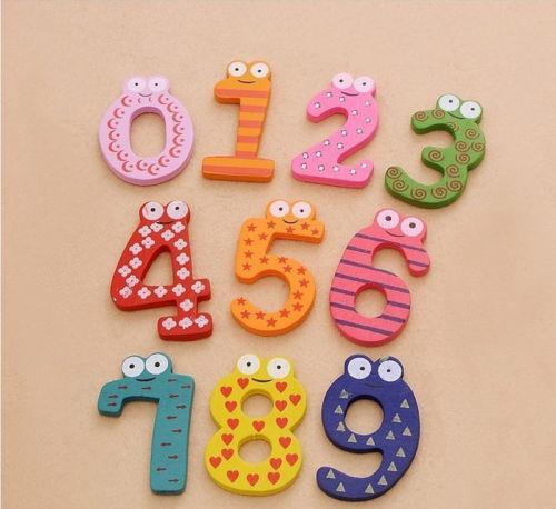 Alphabet Educational Toys : Pcs letters number kids wooden alphabet fridge magnet