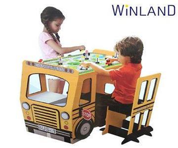 Brand new winland kids school bus play table and chair set - School bus table and chair ...