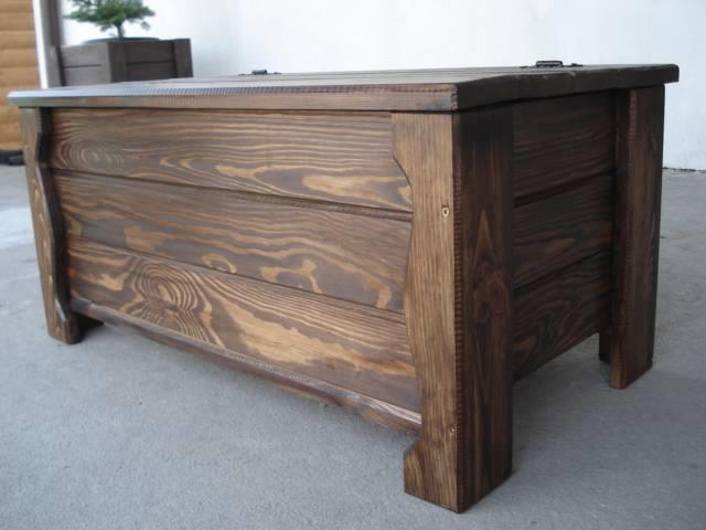 massive handgemachte holzkiste truhe box holz tisch antik dekoration al2 ebay. Black Bedroom Furniture Sets. Home Design Ideas