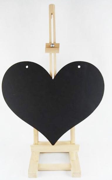 1x kreidetafel schwarz herz mir 2 l cher holz basteln aufh ngen dekoration wand ebay. Black Bedroom Furniture Sets. Home Design Ideas