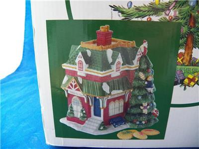 Spode Ceramic Christmas Tree Cookie Jar Village Collection Train Station NIB | eBay