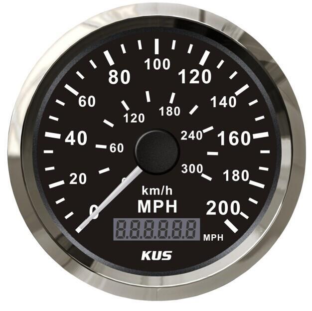 200 mph car stainles gps speedometer 300 km h waterproof digital gauges black. Black Bedroom Furniture Sets. Home Design Ideas