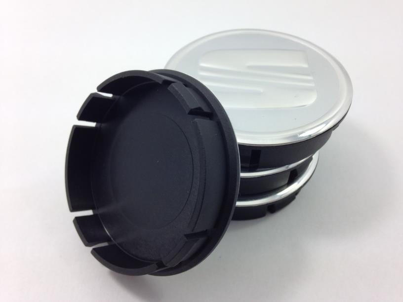 seat ensemble 4 x 60mm centre de roue cache moyeu jante bouchons gris neuf ebay. Black Bedroom Furniture Sets. Home Design Ideas