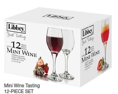 Libbey Glass 12 Just Tasting 4oz Mini Wine Cocktail