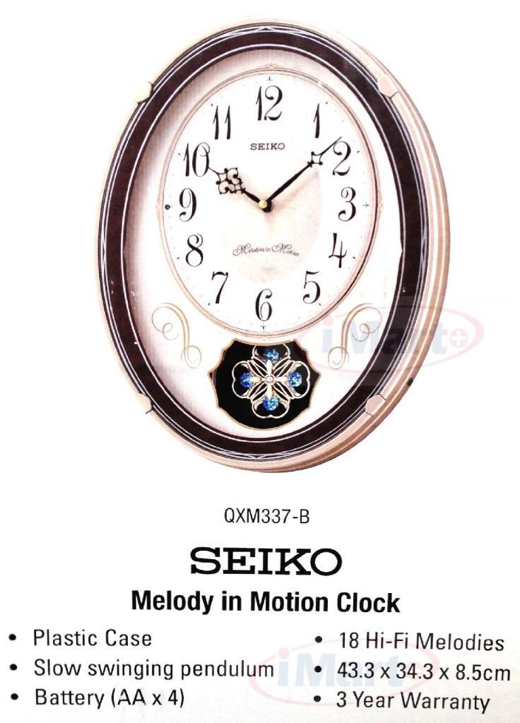 genuine seiko qxm337 b wall clock melody in motion 18