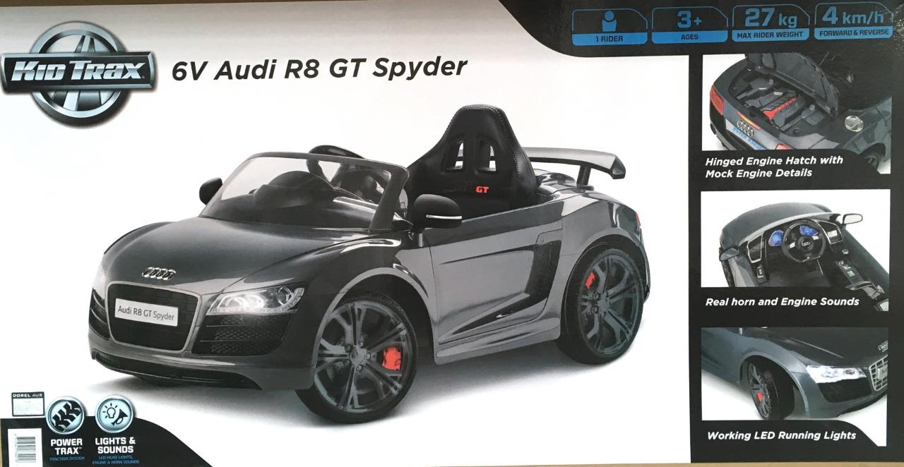 Audi r8 spyder toy car charger 12