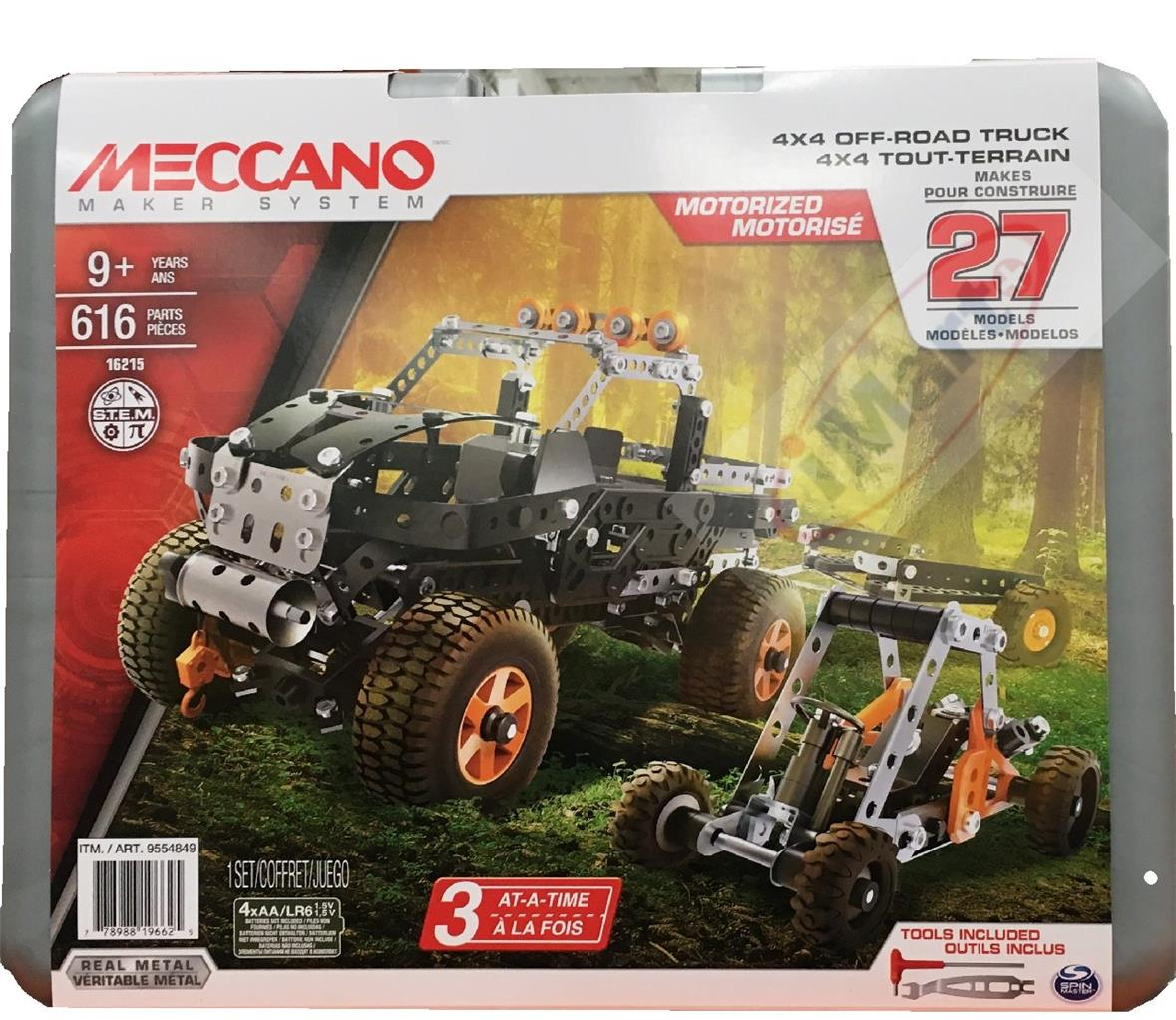 Best Meccano Sets And Toys For Kids : Meccano off road truck models pieces set kids