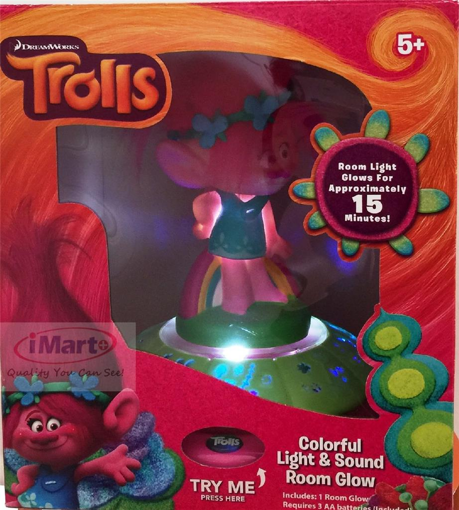 Trolls Colorful Light And Sound Room Glow