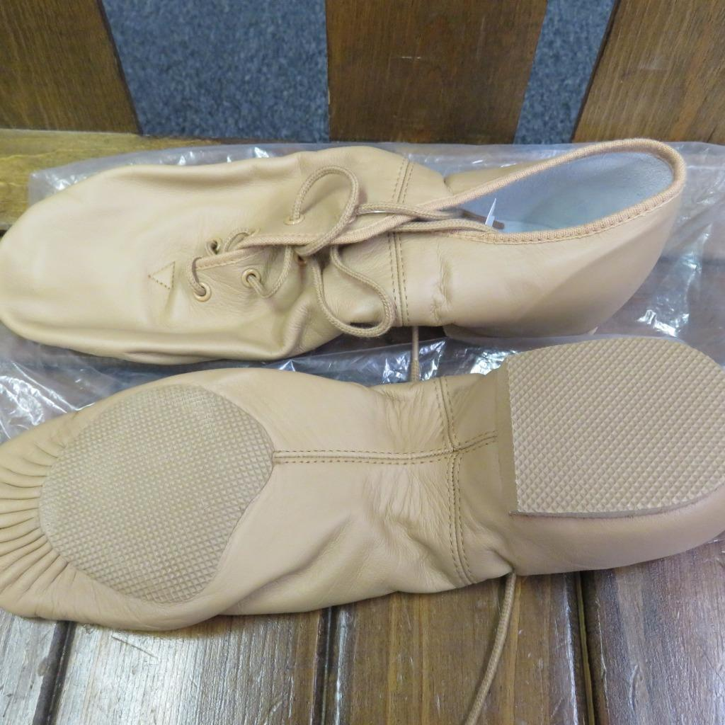 Leo S Jazz Shoes Lace Up Tan